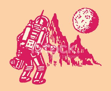 Astronaut,Exploration,Discovery,Futuristic,Communication,Alien,Vector,Space Suit,Adventure,Gesturing,Line Art,Pop Art,Science and Technology,Technology,Space,Outdoors,Mannerism,Moon Surface,One Person,Ilustration