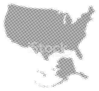 Dotted Vector Map of USA stock vectors and illustrations