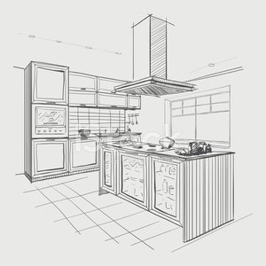 Kitchen,Domestic Kitchen,Plan,Indoors,Planning,Sketch,Design,Ideas,Apartment,Domestic Room,Concepts,Home Interior,Business,Flooring,Vanishing Point,Painted Image,Vector,Space,Architecture,Digitally Generated Image,Drawing - Activity,Built Structure,Ilustration,Island,Residential District,Backgrounds,Black Color,Table,Construction Industry,Drafting,Single Line,Intricacy,Dining,Inspiration,Eating,Housing Project,Architect,White,Pencil Drawing,Modern,Style,Furniture,Human Hand