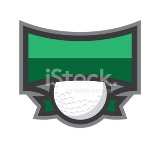 Golf,Sign,Banner,Ribbon,Shield,Coat Of Arms,Sport,Golf Ball,Golf Course,Sports League,Vector
