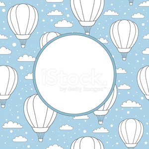 Snow,Pattern,Ilustration,Greeting,Sport,Traffic,Journey,Vacations,Transportation,Fun,Textile,Air,Adventure,Vector,Air Vehicle,Blimp,Blue,Basket,Backgrounds,Wrapping Paper