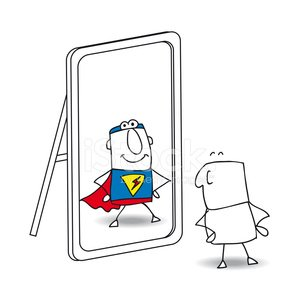Mirror,Men,Emotion,Changing Form,Reflection,Change,Sensory Perception,Cartoon,Individuality,Humor,Doodle,Personal Development,Leadership,Strength,Superhero,Heroes,Power,People,Looking,Superman - Superhero,Full Of Himself,Variation,Showing Off,Pride,Asking,Vanity,Businessman,Contemplation,Contrasts,Sayings,Characters,Beauty,Business,Watching,Bizarre,Ideas,Look In The Mirror