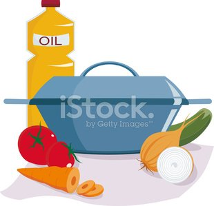 Cooking Pan,Stew Pot,Preparing Food,Food,Cooking,Soup,Ingredient,Olive Oil,Stew,Ilustration,Onion,Vector,Crockery,White Background,Vegetable,Carrot,Purple,Cooking,Fruits And Vegetables,Illustrations And Vector Art,Cucumber,Tomato,Tablecloth,Food And Drink