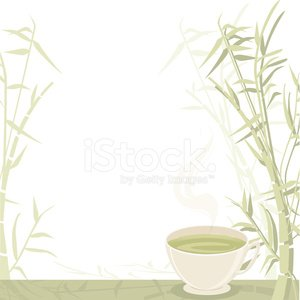 Tea - Hot Drink,Green Tea,Bamboo,Green Color,Herbal Tea,Heat - Temperature,Consoling,Ilustration,Vector,Steam,Drink,Relaxation,Drinks,Vector Backgrounds,Nature,Nature Backgrounds,Food And Drink,Copy Space,Tranquil Scene,Illustrations And Vector Art