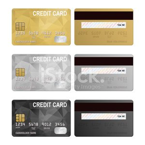 Vector Credit Cards Front And Back View Stock Vectors 365psd Com