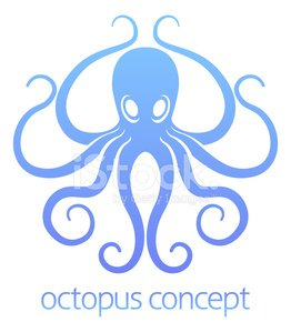 Octopus,Ilustration,Isolated,Computer Graphic,Monster,Mascot,Animal,Tattoo,Art,Insignia,Animated Cartoon,Silhouette,White,Clip Art,Nature,Art Product,Sea,Design,Tentacle,Retro Revival,Computer Icon,Symbol,Concepts,Cartoon,Old-fashioned,Octopus,Vector,Seafood