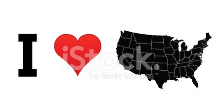 Heart Shape,Design Element,Vector,Love,The Americas,Silhouette,Patriotism,USA,Map
