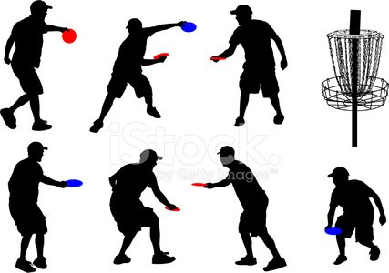 Disc Golf Silhouettes Stock Vectors 365psd Com