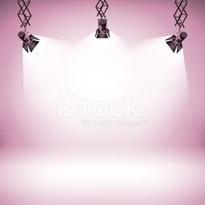 Spot Light Abstract Club Gallery Theater Interior Background