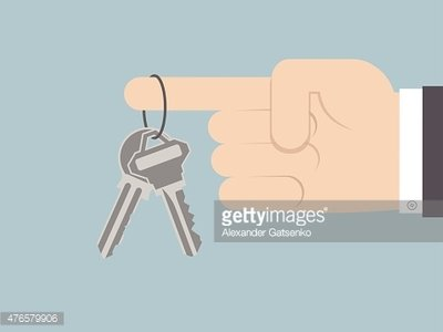 Index Finger Holding Two Silver Keys Stock Vectors 365psd