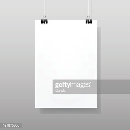 Vector White Blank Paper Wall Poster Mockup Template Frame Design ...