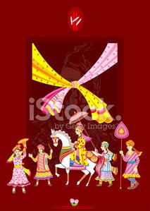 Indian Hindu Wedding Invitation Card Stock Vectors And