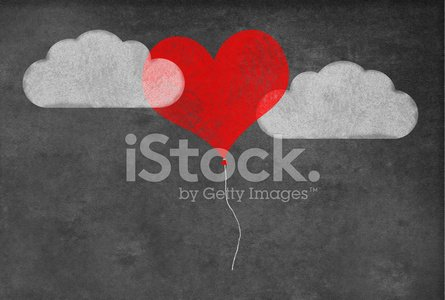 Love,Horizontal,Cloud - Sky,Blackboard,Chalk Drawing,2015,Flirting,Red,Balloon,Romance,White Color,Heart Shape,Photography,Dating,Black Color