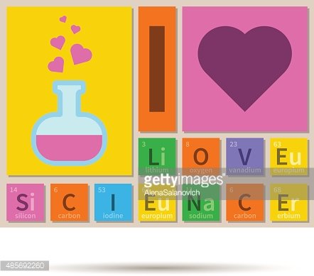 I Love Science Chemistry Theme Banner With Periodic Table Elements