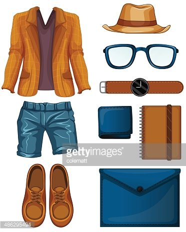 Part of a Series,Computer Graphics,Beauty,Collection,Beautiful People,Illustration,Fashion,2015,Funky,Computer Graphic,Clip Art,Arts Culture and Entertainment,Lifestyles,Vector,Bag,Wallet,Shoe,Eyeglasses,Jacket,Hat,White Background
