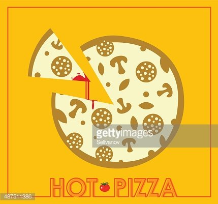 Vintage Pizza Sign Background Template Or Box Design