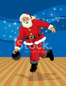 Santa Claus,Bowling,Christmas,Bowling Alley,Sport,Bowling Pin,Bowling Ball,Ilustration,Backgrounds,Vector,Exercising,Costume,Target Sport,Competition