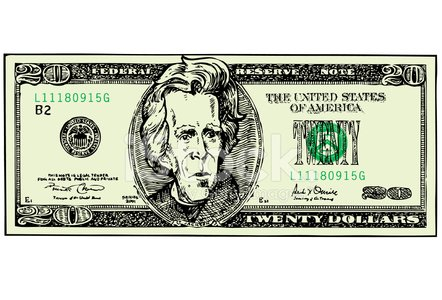 Dollar,US Paper Currency,Twenty Dollar Bill,Number 20,Currency,Dollar Sign,US Currency,Paper Currency,USA,Paper,Wealth,Allowance,Ilustration,Andrew Jackson,Number,Eagle - Bird,Vector,Caricature,Engraved Image,Savings,Human Face,President,Humor,Banking,Treasury,Calendar Date,Paying,Debt,Buying,Signature,Motivation,Former US President,Business Symbols/Metaphors,Finance,Industry,Exchange Rate,Vector Cartoons,Success,Key,Green Color,Government,Government,Illustrations And Vector Art,Commercial Activity,Weight Scale,Bank Account,Business