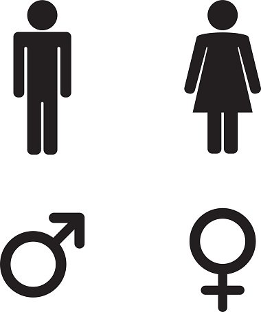 Man And Woman Toilet Sign And Male And Female Symbols Stock Vectors