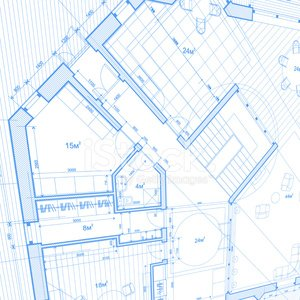 Architectural blueprint plan of the house stock vectors 365psd architectural blueprint plan of the house malvernweather Images