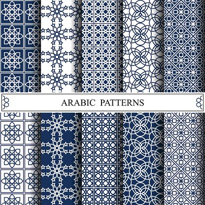 Arabic Vector Pattern Pattern Fills Web Page Background Surface