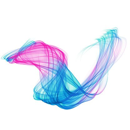 The Magical Form Of Pink Blue Abstract Violet Red Blue