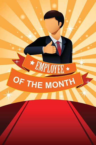employee of the month poster frame stock vectors 365psd com