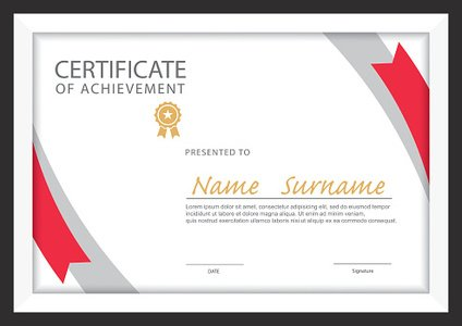 Certificate Template,diploma Layout,a4 Size ,vector stock ...