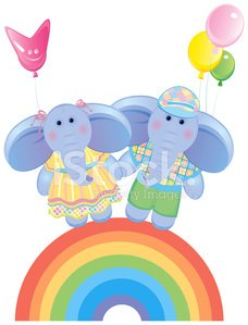 Young Animal,Elephant,Toy,Rainbow,Animal,Vector,Cupid,Holiday,Little Boys,Childhood,Balloon,Animal Backgrounds,Vector Cartoons,Illustrations And Vector Art,Vector Backgrounds,Love,Ilustration,Congratulating,Animals And Pets