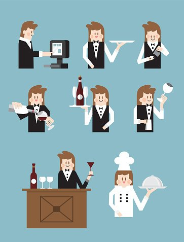 Men,Wine,Cooking,Cup,Breakfast,Lunch,Coffee - Drink,Vector,Clip Art,People,Food,Illustration,Occupation,Dessert,Creativity,Drinking,Drink,Suit,Meal,Business,Service,Alcohol,Serving Food and Drinks,Restaurant,Cafe,Serving,Assistance,Cartoon,Design Element,Waiter,Espresso,Dinner,Males,Wait Staff,Cafeteria,White,Bar - Drink Establishment,Computer Graphic,Chef,Bar Counter