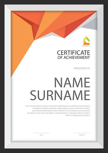 Exceptional Certificate Template,diploma Layout,A4 Size ,vector  Certificate Layout
