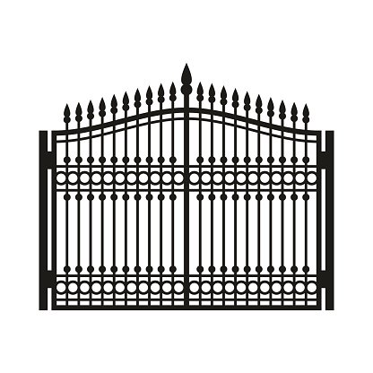 Fence Wrought Iron Old Style Vector stock vectors - 365PSD.com