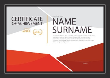 Certificate Templatediploma Layouta4 Size vector stock vectors – Certificate Layout