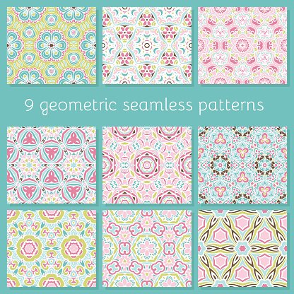 Multi Colored,Collection,Creativity,Cute,Decor,Backgrounds,Backdrop,Symmetry,Seamless,Romance,Pattern,Abstract,Elegance,Repetition,Invitation,Scrapbook,Shape,Vector,Illustration,Greeting,Textile,Fashion,Geometric Shape,Computer Graphic,Fragility