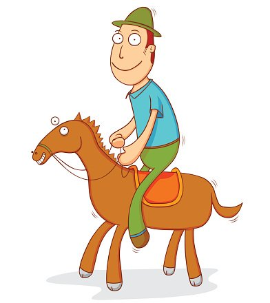 Men,Males,Friendship,Smiling,Happiness,Cheerful,Courage,Jockey,Sport,Illustration,Sports Race,Cartoon,Motion,Jogging,Cowboy,Farm,Jumping,Running,Competition,Competitive Sport,Clip Art,Vector,Speed,Riding,Transportation,Mode of Transport,Animal,Journey,Riding,Horse