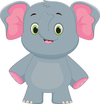 Baby Elephant Cartoon Clipart Images On A Transparent Background