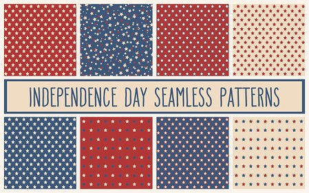 Celebration,Retro Styled,USA,No People,Holiday - Event,Old-fashioned,Independence Day - Holiday,Collection,Number 4,Illustration,Seamless Pattern,Backgrounds,Flag,American Culture,Event,Fourth of July,Star Shape,July,Vector,Patriotism,Blue,Beige,Red,Pattern