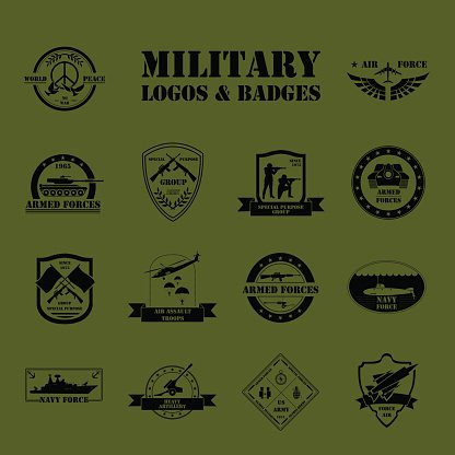 military logo and graphic template stock vectors 365psd com