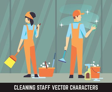 Men,Manual Worker,Working,Professional Occupation,Cleaning,Service,Hygiene,Wet,Concepts,Design,Team,One Person,Teenage Girls,Characters,Clean,Domestic Life,People,Girls,Glass - Material,Teamwork,Women,Ideas,Uniform,Equipment,Paintbrush,Illustration,Vector,Human Resources,Occupation,Work Tool