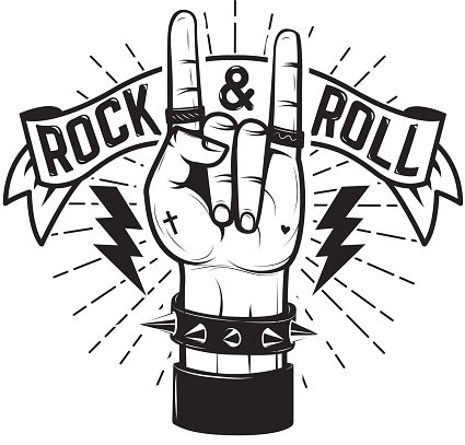 Rock and Roll Human Hand With Heavy Metal stock vectors - 365PSD.com