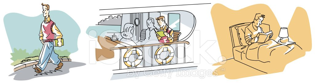 Reading,Book,Bedroom,Literature,Isolated Objects,Illustrations And Vector Art,Vector Cartoons,Passenger,Passenger Ship,Park - Man Made Space,Concepts And Ideas