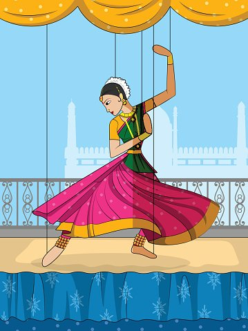 Rajasthani Puppet Doing Kathak Classical Dance Of Northern India Vector Images