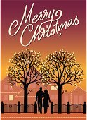 Christmas Card,Christmas,Text,Humor,Greeting Card,House,Holiday,Couple,Christmas Lights,Greeting,Tree,Street Light,People,Silhouette,Illuminated,Winter,Holding Hands,Gold Colored,Back Lit,Residential Structure,Light Bulb,Ornate,Fence,Season,Message,Architecture And Buildings,Holidays And Celebrations,Lifestyle,Homes,Christmas,Lifestyles