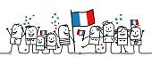 France,French Culture,French Flag,Bastille Day,Flag,Bastille,Month,People,Cartoon,French Revolution,National Holiday,National Landmark,Sketch,Crowded,Paying,Federation,Fete,Humor,Single Line,Red,Cheerful,Group Of People,Decoration,Vector Cartoons,ferie,Confetti,People,Holidays And Celebrations,festivites,Drawing - Art Product,Crowd,Crag,White,Illustrations And Vector Art