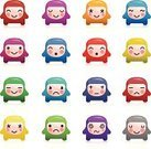 Emoticon,Smiley Face,Characters,Facial Expression,Icon Set,Cute,Tired,Set,Cheerful,Happiness,Simplicity,Sadness,Dizzy,Multi Colored,Sparse,Small