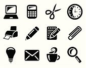Pencil,Scissors,Symbol,Calculator,Computer Icon,Black Color,Vector,Work Tool,Office Interior,Paper Clip,Note Pad,Sign,Pen,Coffee - Drink,Monochrome,Keypad,Icon Set,Computer Graphic,Business,Laptop,Magnifying Glass,Electric Lamp,Concepts,Cup,Computer,Interface Icons,Personal Accessory,Searching,Document,Computer Printer,Push Button,Clip Art,Ilustration,Ideas,Mail,Clock,Design Element,Business,Illustrations And Vector Art,Business Symbols/Metaphors,Office Icon,Set,Collection,Vector Icons,Group of Objects,web icon,Internet Icon