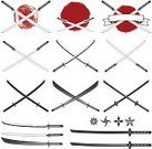 Daimyo,Tanto,Biological Culture,Horizontal,Cut Out,Variation,Bushido - Lifestyle,Retro Styled,Danger,Only Japanese,Japanese Ethnicity,Japan,Knife - Weapon,Samurai Sword,Warrior - Person,Art And Craft,Art,Army,Foil Fencing - Sport,Bushido,Old-fashioned,Sword,Warriors,Handle,Old,Steel,Japanese Culture,Crossing,Indigenous Culture,Razor Blade,Illustration,Crossing,Symbol,Ancient,Cultures,Weapon,Sharp,Karate,Ninja,Insignia,War,Tribal Art,History,Samurai,Foil - Sword,Vector,Old,Black Color