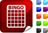 Bingo,North American Bingo,Symbol,Vector,Retirement,Label,Page Curl,Sport,Fun,Design,Playing,Leisure Games,Red,Pattern,Orange Color,Green Color,Black Color,Digitally Generated Image,Purple,Blue,Computer Graphic,Shiny,Recreational Pursuit,White Background,Leisure Activity,Ilustration,Relaxation