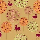 216177,Square,Connection,Retro Styled,No People,Background,Landscape,Animal Markings,Backgrounds,Autumn,Forest,Illustration,Deer,Seamless Pattern,Tree,Pattern
