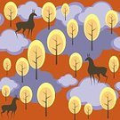 216177,Square,Connection,No People,Cloudscape,Background,Deer,Illustration,Animal Markings,Autumn,Seamless Pattern,Forest,Landscape,Backgrounds,Tree,Pattern